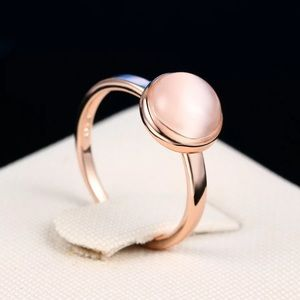 New Top Quality Rose Gold Opal Moon-Stone Ring